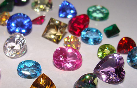 Inset colored sapphires