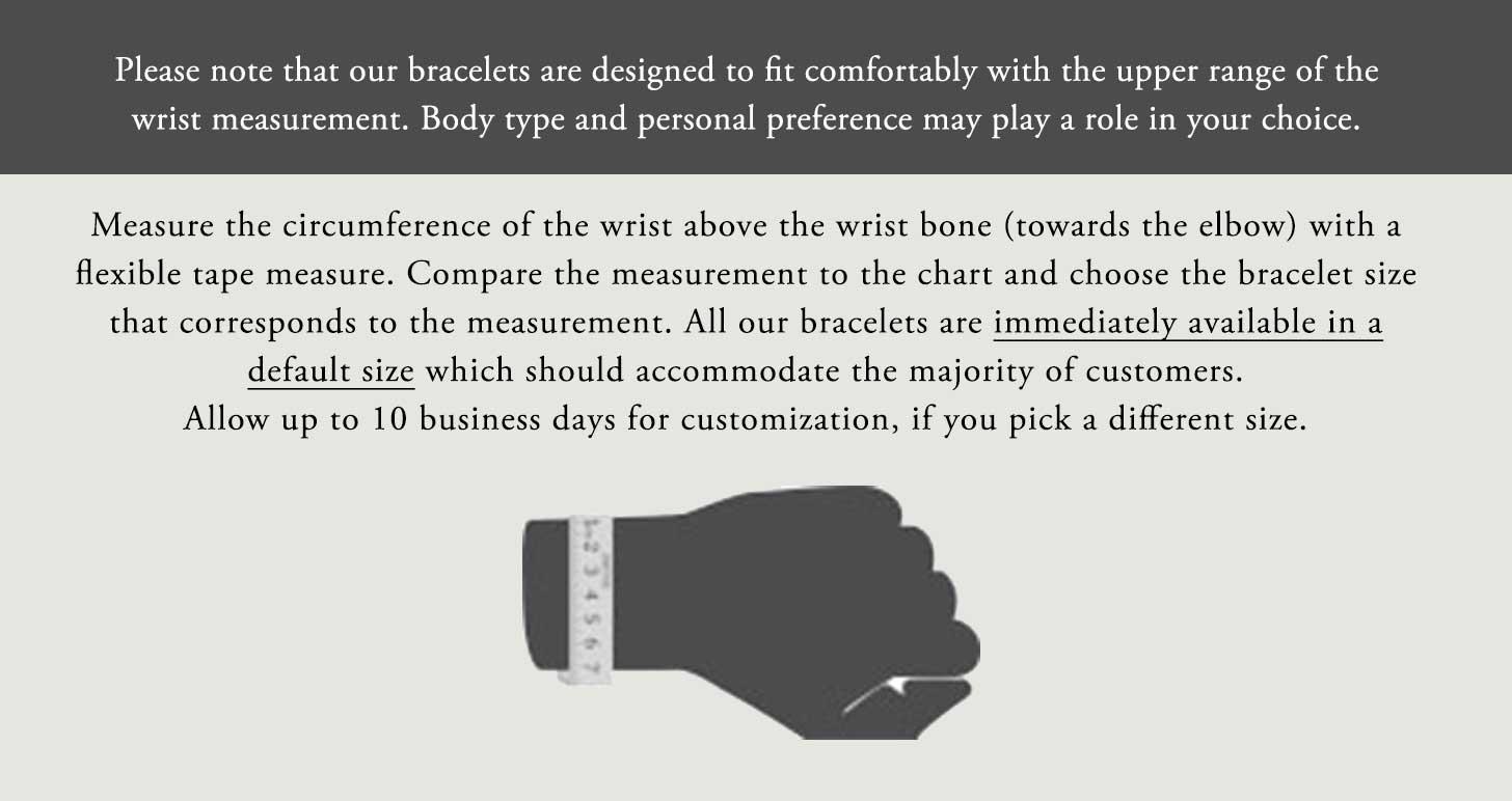 Wrist sizing chart Image