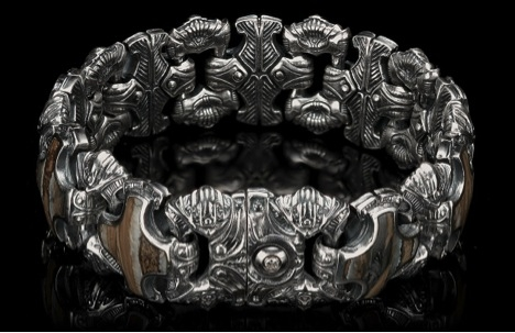 William Henry fossil woolly mammoth tooth bracelet