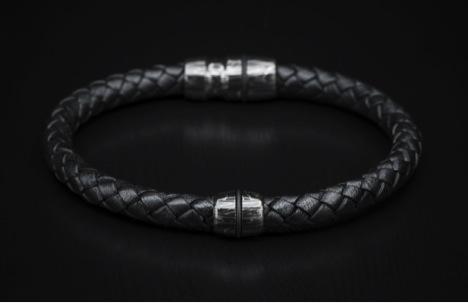 William henry braided leather bracelet