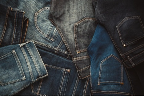 assortment of denim jeans