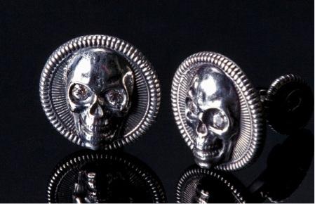 sterling silver white topaz cufflinks