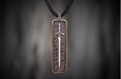 william henry bronze pendant necklace