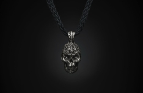 william henry skull necklace