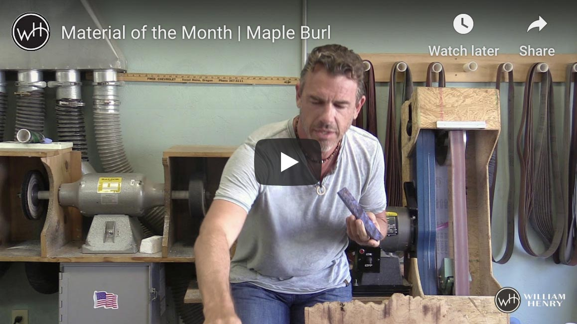 Material of the Month : Maple Burl