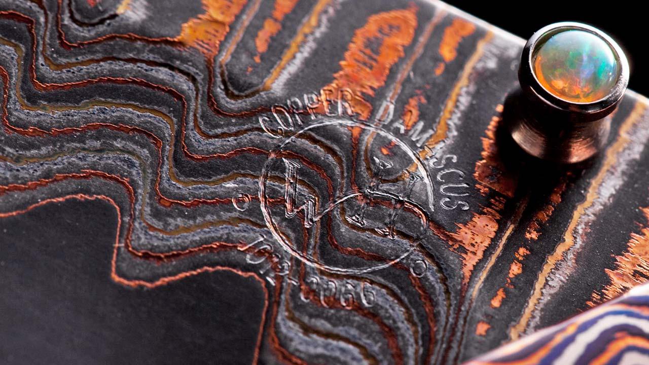 Copper Wave Damascus
