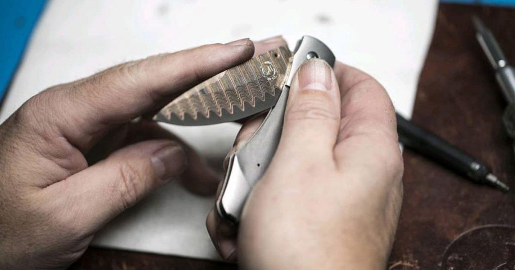 Man Folding Pocket Knife